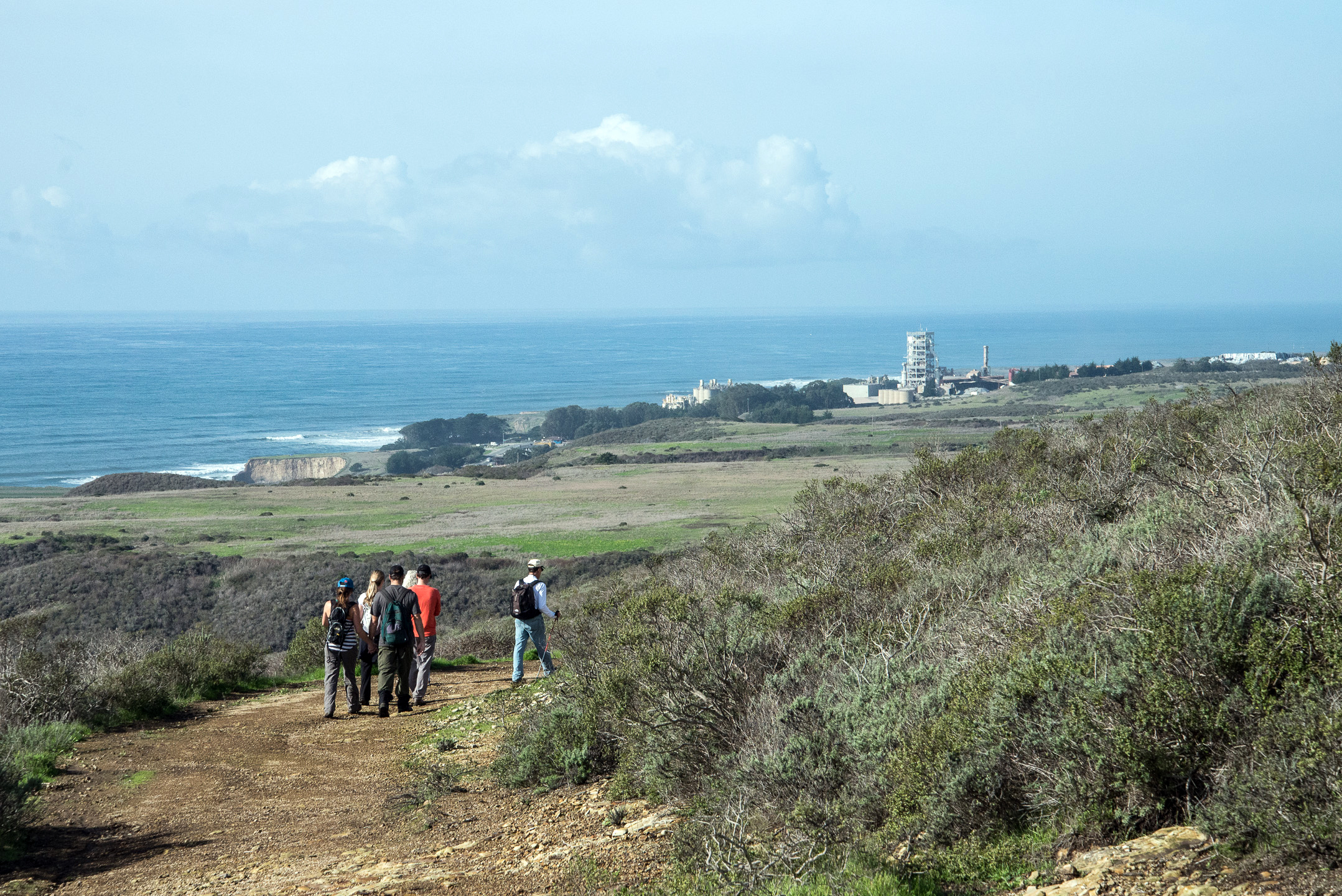 BLM guided hike on Coast Dairies in vicinity of proposed first public trail