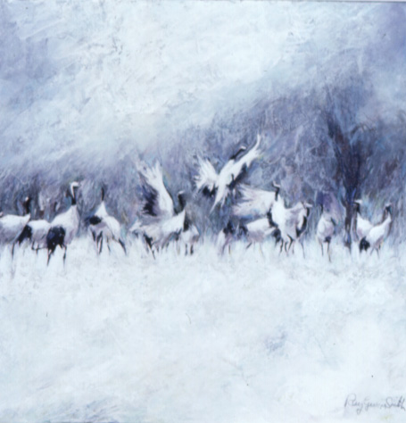 Ray Gwyn Smith Cranes in Snow 2002