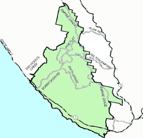 Bonny Doon Planning                     District map